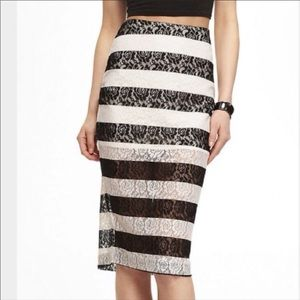 Express Lace Pencil Skirt NWOT